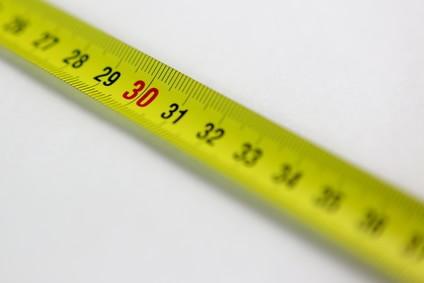 30cmを計る黄色いスケール