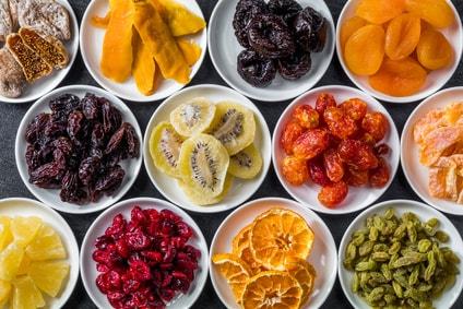 色々なドライフルーツ