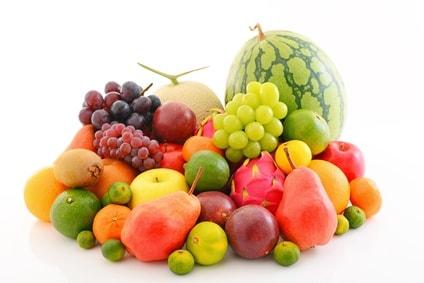 色んな種類の果物