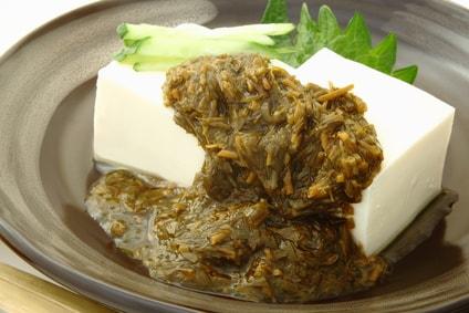 アカモク 豆腐
